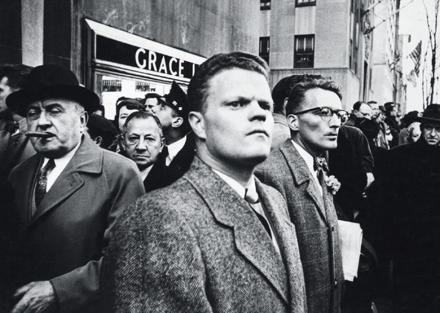 William Klein, Il giorno di San Patrizio, New York, 1955